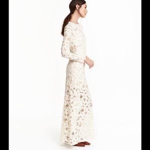 H & M special edition white lace dress